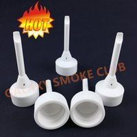 angle cover - Ceramic Carb Cap With Handle Dabber One Angled Hole Cover mm mm Bowl for oil rigs or water pipes