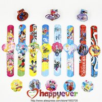 Party Favor bag treats - Assorted Cartoon Slap Bracelets Kids Event Party Favors Supplies Boy Girl Birthday Party Toys Treat Bag Reward Goodie