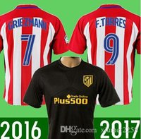 Wholesale 1617Atletico Madrid Jersey ARDA home away GRIEZMANN F TORRES JACKSON thai quality Atletico Madrid football shirt jersey