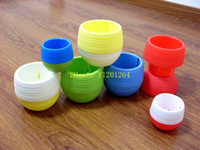 Wholesale 50pcs Mini stone flowerpot Gardening Flower Pots Small Large Plastic Nursery Flower Planter Pots Garden Deco Gardening Tool