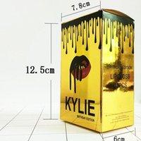 Wholesale In Stocks Kylie Birthday Edition Lip Gloss Golden Kylie Jenner Lip Gloss Liquid Matte Lipstick Different Colors