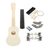 beginner guitar kits - Inch Unassembled Wooden Ukulele Guitar Uke Kit With Musical Accessories for Guitar DIY for beginners or Basic players