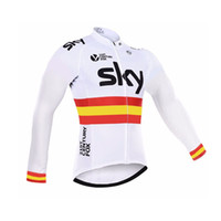 Full bicycling jackets - Sky Cycling Jerse est Long Sleeve Pro Team Sky Cycling Jerseys Ropa Ciclismo Hombre Bicycle Sports Wear Quick Dry MTB Bike clothing Jacket