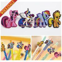 Wholesale My Little Ponies Cartoon Pen Pencil Accessories Cap My Little Horse Pen Topper Charm Fashion Jewelry Kids Gifts