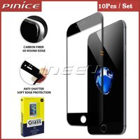 Wholesale DHL Free mm Full Covered D Tempered Glass For iPhone S Plus Plus Carbon Fiber Soft Edge Screen Protector