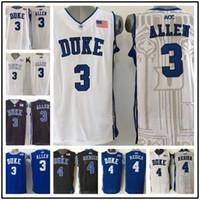 b9f2fbf360a1 Basketball Men Sleeveless Wholesale 3 Grayson Allen 4 JJ Redick Duke Blue  Devils Men s College Jerseys