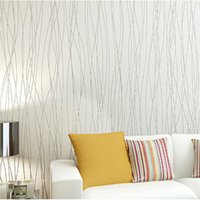 Wholesale New Fashion Wallpapers Striped D European living room wallpaper bedroom sofa tv backgroumd of wall paper roll