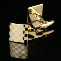Wholesale French Shirt Laser Engraving Men Jewelry Unique Wedding Groom Men Cuff Links Business gold Cufflinks For Mens D0150