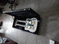 Cordes sg France-Livraison gratuite! Haute qualité 6 + 12 cordes personnalisé double cou SG blanc guitare électrique matériel en or avec boîtier 119 Real photos