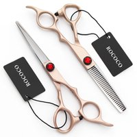 best hair scissors - Hot Sale Rose Gold Color Fashion Shining Hair Salon Barber Scissor Hair Scissor Kits Best Price and High Quality