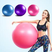 Wholesale cm PVC Exercise Slim Fitness Massage Yoga Ball Balance Pilates Balls Anti Burst Yoga Ball Pump Air Plug Gas Extraction