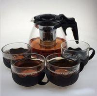 Wholesale 900ml Handmade Teapot With Filter Heat Resistant Glass Tea Pot Infuser Stainless Steel Kettle Tea Pots Drinkware