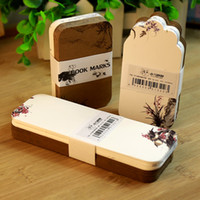 Wholesale Blank Bookmark Tags Labels Thicken Kraft Paper White Card Bookmarks Paper Book Mark Note Factory Prices