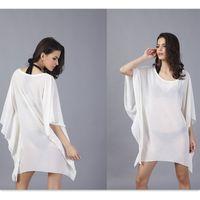 beauty bats shipping - Women Beach Boho Summer Dress beach dresses outer tunic bat sleeve light plus size short sleeve beach dresses for beauty