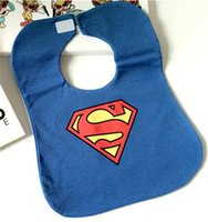 baby product logos - Popular Logo Children saliva towel cotton waterproof superman garments small Baby Bibs products baby bib