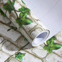 Wholesale The student dormitory decoration retro brick pattern waterproof Self adhesive bricks wallpa3D three dimensional wall stickers clothing store