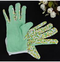 Nouvelle femme jersey France-Nouveau 100% coton antidérapant Personal Workplace sécurité Soft Jersey Femmes Jardinage Working Gants 4 Couleurs WA1492