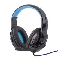 Jeu casque professionnel France-Casque de jeu professionnel surround stéréo casque écouteur casque écouteur 3.5mm avec microphone micphone pour ordinateur pc gamer iphone 7 sansung