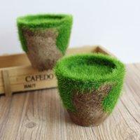 Wholesale Finished pulp Basin Simulation of DIY flower pot Planters Pots