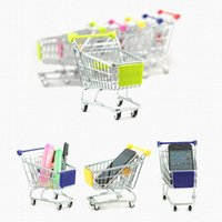 2017 Mini Supermarché Handcart Shopping Utilitaire Panier Mode Stockage Panier Bureau Jouet Nouvelle Collection Gratuit DHL XL-T34
