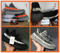 Wholesale with original box sply v2 boost v2 Season women men shoes kanye west orange grey black stripe sports sneakers running shoes