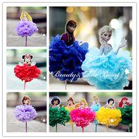 Wholesale-7.2 '' Sofía Elsa Anna Princesa Minnie Cupcake Toppers Decoraciones de la fiesta de cumpleaños Los niños de la fiesta de bienvenida al bebé de la barra de caramelo suministra 1pc
