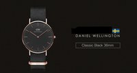 Wholesale black face dw watch top brand Daniel Wellington watches luxury style dial table For Men Women Nylon Strap Military Quartz Wristwatch DHL