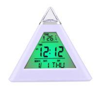 amazing alarm clock - PC Happy Gifts Amazing LED Piramide Digital Fashion Creative Smart Clock LED Snooze Alarm Calendar Temperature