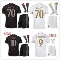ac boy - Wholesales seasons ac milan kids soccer jerseys home customzied name number top quality soccer uniforms football shirts shorts