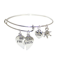 best ring engravings - hot sale fashion bracelet jewelry alex and ani engraved split best friends diy diamond charm adjustable expanded bangle Bracelets