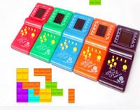 El nuevo juego de Tetris del juego caliente de la venta caliente LCD electrónico juega los juegos clásicos del ladrillo El envío libre