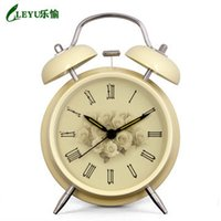 Wholesale Desk Clocks alarm table director crafts projection desktop Rural High quality lazy oversize Silent night light