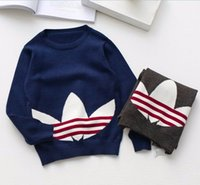 Wholesale Children Clothing Boys Knitted Sweaters Autumn New Patchwork Boys Cardigan Casual Cotton Long Sleeve Boys Sweaters