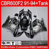 Comression Mold For Honda CBR600 F2 8Gifts matte silver 23 Colors For HONDA CBR600F2 91 92 93 94 CBR600RR FS 1HM11 CBR 600F2 600 F2 CBR600 F2 1991 1992 1993 1994 Fairing silver