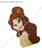 belle patches - 7 quot PRINCESS MIRROR BELLE Glamour Shot Girls Film TV MOVIE Classic Lovely Cute Cartoon Embroideried Patch Logo Badge LARGE