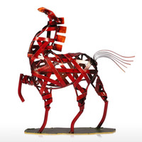 africa articles - TOOARTS Metal Sculpture Metal weaving horse Home Furnishing Articles Handicrafts Home Garden A002