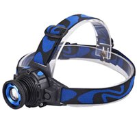 Wholesale Headlamp LED CREE Flashlight Adjustable Degree Headlamp Zoomable Light For Hunting Camping Climbing with Retail Package DHL Free OTH341