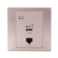 Point d'accès routeur sans fil répéteur wifi support adaptateur RJ45 PoE inwall AP avec port usb utilisation pour hôtel home