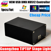 Wholesale DMX512 Control Software USB DMX Dongle Stage Light HD512 Controller Device Martin Lightjockey Sunlite suite FreeStyler LumiDMX