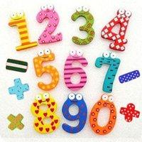 baby resources - Teaching Resources Mathematics Magnetic wooden cartoon stickers for children sticker kids stickers baby toy A182 SZTJ