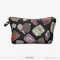 Wholesale 2017 Fashion Makeup Bag Wallet Food Black cosmetics Bag Travel Bag neceser mochila bolsa feminina Handbag organizer Makeup Pouch