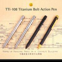 Wholesale International Awesome Exquisite gear bolt mechanism Four colors TTi Gr5 Titanium Bolt Action Pen Standard version Sign Pen