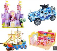 Wholesale Paper D three dimensional puzzle children s DIY building ship model assembled educational toys manufacturers