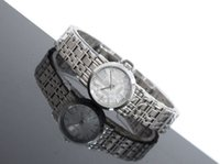 Wholesale Good high quality fashion ladies silver gold strap simple quartz movement folding buckle watch bu1764
