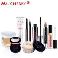 Vente en gros - Ensemble de maquillage nu BB Cream Blush Eyeliner Mascara Lipstick Finish loose Powder Kits pour Lady Gift City Elite MC001