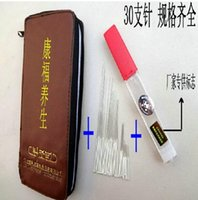 Wholesale non disposable acupuncture with acupuncture bag reusable acupuncture needle set