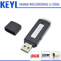 Wholesale KEYI in Mini Draagbare Mini Opname dictafoon GB USB Pen Flash Drive Disk Digital Audio Voice Recorder Uur