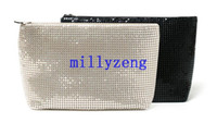 Wholesale Lady Shiny Cosmetic Bag Hand Bag Small Portable Large Capacity Mobile Phone Clutch Package Cosmetics