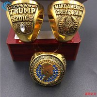 Wholesale VOTE donald trump Make America Great Again America USA President trump championship ring Christmas gift free shippping