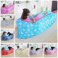 Wholesale Portable Inflatable Air Bed Sofa Outdoor Beach Camping Sleeping Bag Feet Lazy Bed Camping Lounger OOA1174